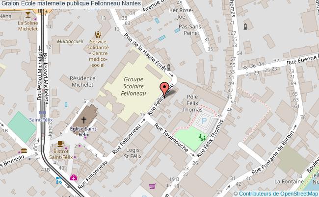 plan École Maternelle Publique Fellonneau Nantes Nantes