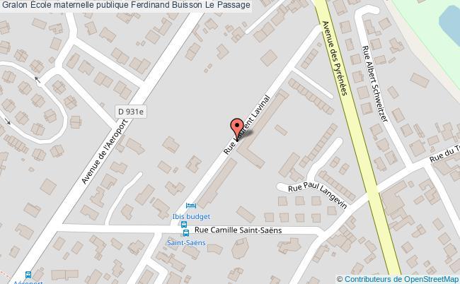 plan École Maternelle Publique Ferdinand Buisson Le Passage Le Passage