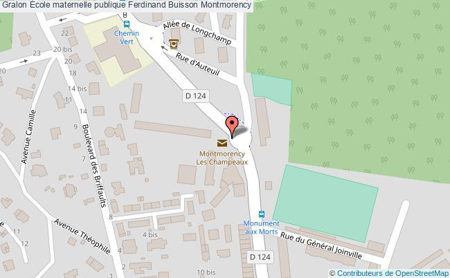 plan École Maternelle Publique Ferdinand Buisson Montmorency Montmorency