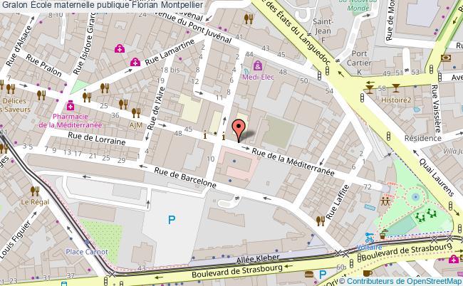 plan École Maternelle Publique Florian Montpellier Montpellier