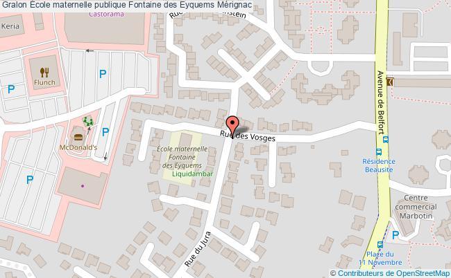 plan École Maternelle Publique Fontaine Des Eyquems Mérignac Mérignac