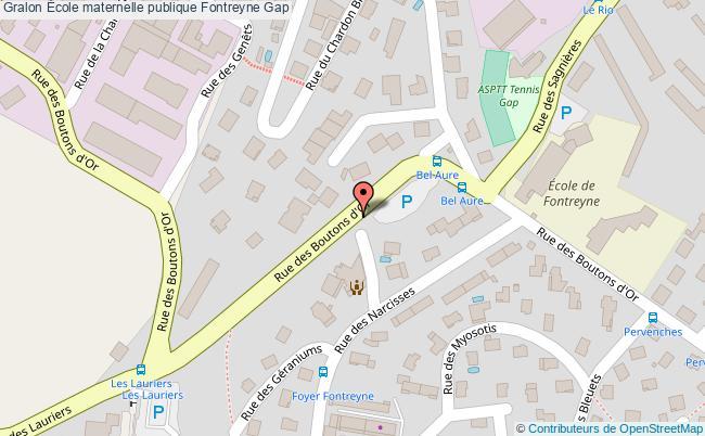 plan École Maternelle Publique Fontreyne Gap Gap