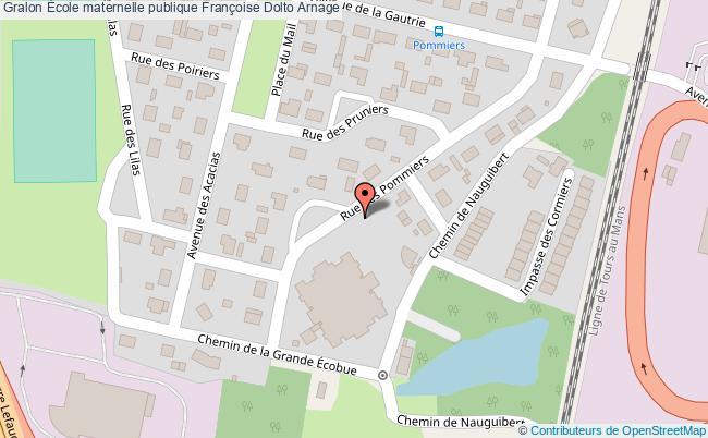 plan École Maternelle Publique Françoise Dolto Arnage Arnage
