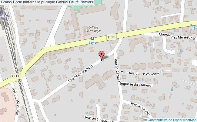 plan École Maternelle Publique Gabriel Fauré Pamiers Pamiers