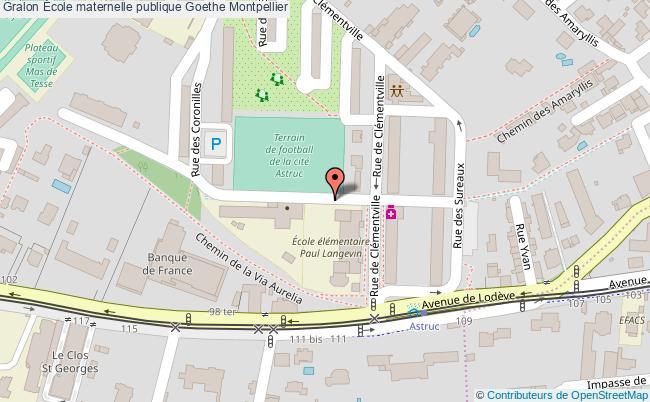 plan École Maternelle Publique Goethe Montpellier Montpellier