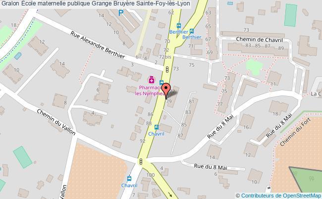 plan École Maternelle Publique Grange Bruyère Sainte-foy-lès-lyon Sainte-Foy-lès-Lyon