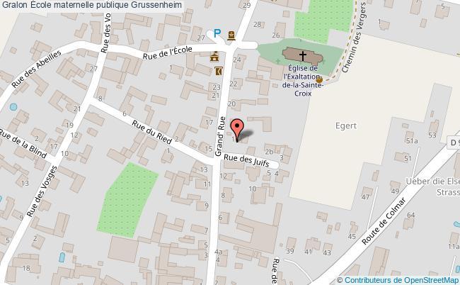 plan École Maternelle Publique Grussenheim Grussenheim