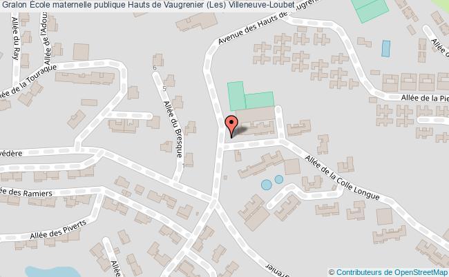 plan École Maternelle Publique Hauts De Vaugrenier (les) Villeneuve-loubet Villeneuve-Loubet
