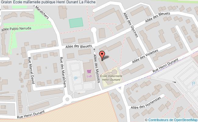 plan École Maternelle Publique Henri Dunant La Flèche La Flèche