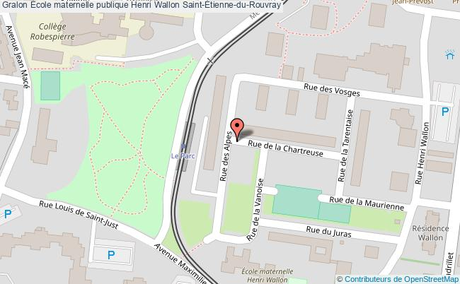 plan École Maternelle Publique Henri Wallon Saint-Étienne-du-rouvray Saint-Étienne-du-Rouvray