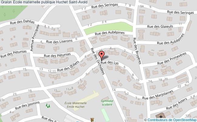 plan École Maternelle Publique Huchet Saint-avold Saint-Avold