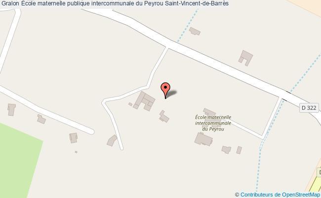plan École Maternelle Publique Intercommunale Du Peyrou Saint-vincent-de-barrès Saint-Vincent-de-Barrès
