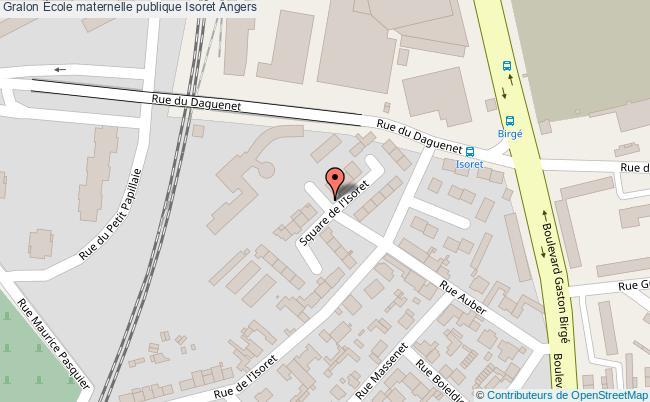 plan École Maternelle Publique Isoret Angers Angers