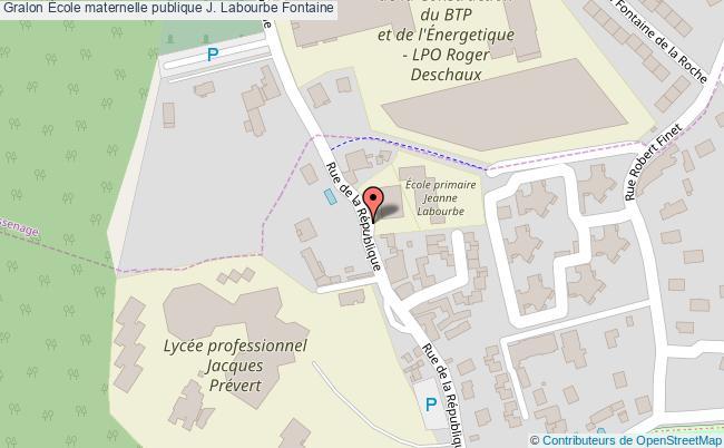 plan École Maternelle Publique J. Labourbe Fontaine Fontaine