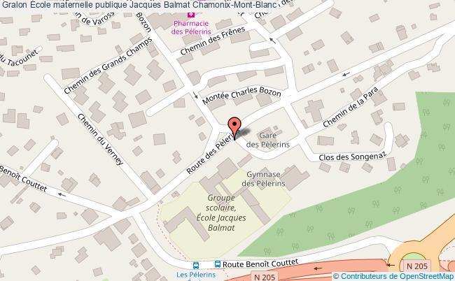 plan École Maternelle Publique Jacques Balmat Chamonix-mont-blanc Chamonix-Mont-Blanc