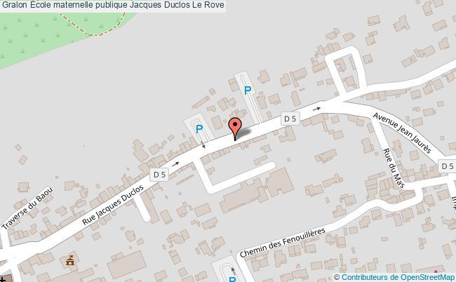 plan École Maternelle Publique Jacques Duclos Le Rove Le Rove