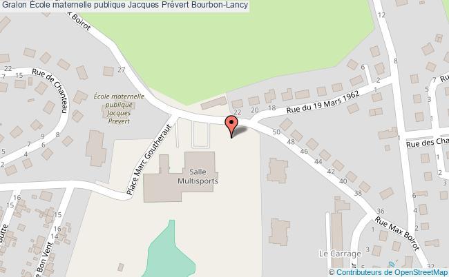 plan École Maternelle Publique Jacques Prévert Bourbon-lancy Bourbon-Lancy
