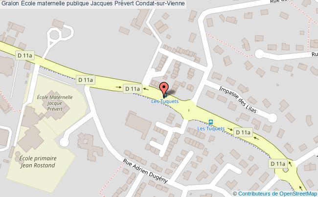 plan École Maternelle Publique Jacques Prévert Condat-sur-vienne Condat-sur-Vienne