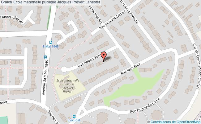 plan École Maternelle Publique Jacques Prévert Lanester Lanester