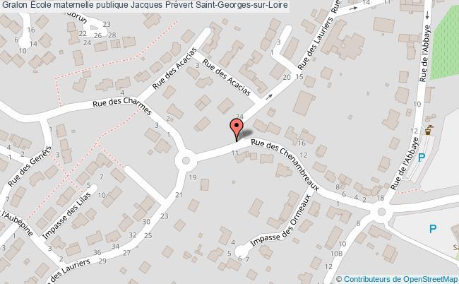 plan École Maternelle Publique Jacques Prévert Saint-georges-sur-loire Saint-Georges-sur-Loire