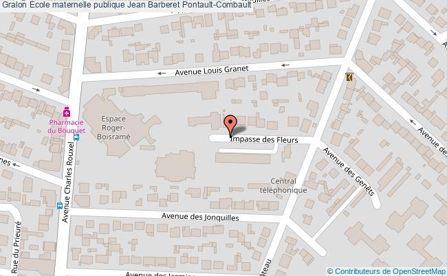plan École Maternelle Publique Jean Barberet Pontault-combault Pontault-Combault