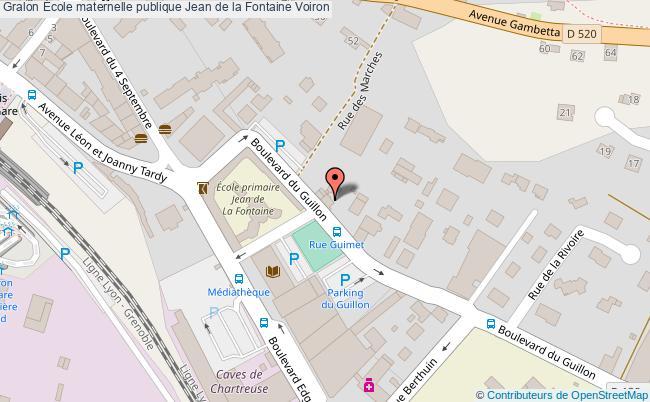 plan École Maternelle Publique Jean De La Fontaine Voiron Voiron