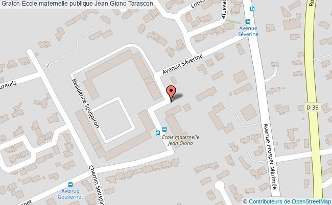 plan École Maternelle Publique Jean Giono Tarascon Tarascon