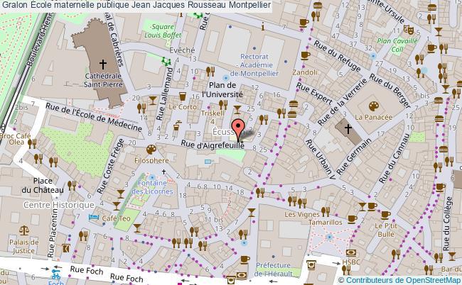 plan École Maternelle Publique Jean Jacques Rousseau Montpellier Montpellier