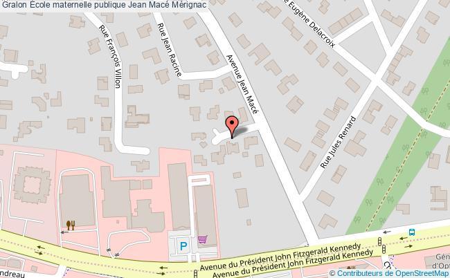 plan École Maternelle Publique Jean Macé Mérignac Mérignac