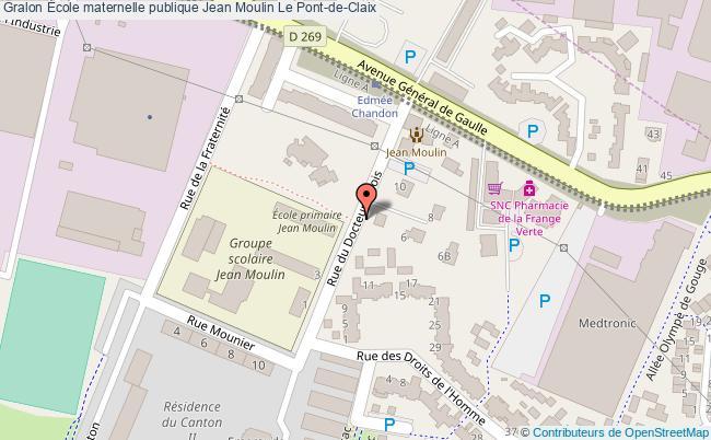 plan École Maternelle Publique Jean Moulin Le Pont-de-claix Le Pont-de-Claix