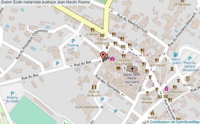 plan École Maternelle Publique Jean Moulin Ruoms Ruoms