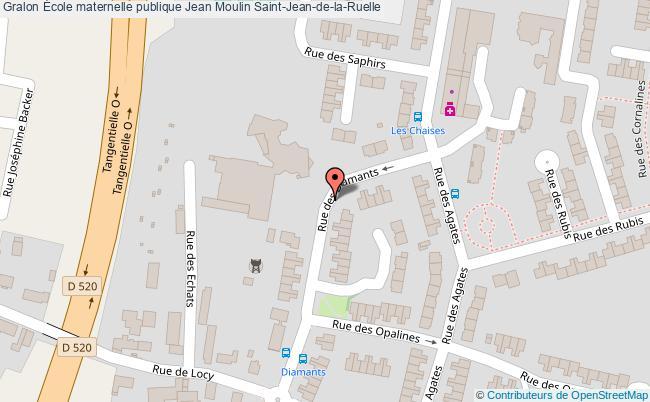 plan École Maternelle Publique Jean Moulin Saint-jean-de-la-ruelle Saint-Jean-de-la-Ruelle