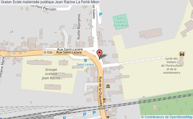 plan École Maternelle Publique Jean Racine La Ferté-milon La Ferté-Milon