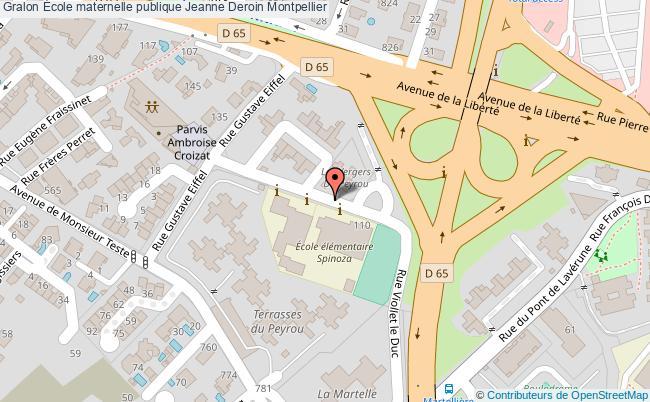 plan École Maternelle Publique Jeanne Deroin Montpellier Montpellier