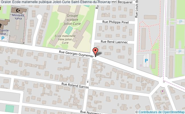 plan École Maternelle Publique Joliot-curie Saint-Étienne-du-rouvray Saint-Étienne-du-Rouvray