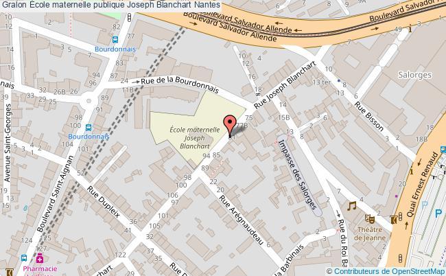 plan École Maternelle Publique Joseph Blanchart Nantes Nantes