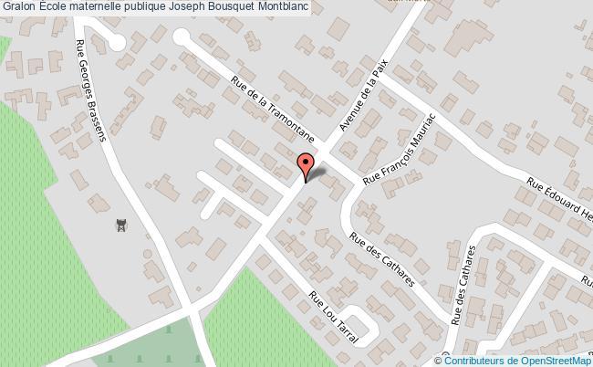 plan École Maternelle Publique Joseph Bousquet Montblanc Montblanc