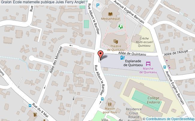 plan École Maternelle Publique Jules Ferry Anglet Anglet
