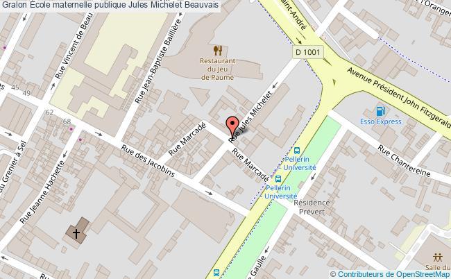 plan École Maternelle Publique Jules Michelet Beauvais Beauvais