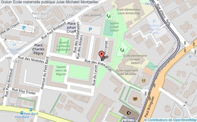 plan École Maternelle Publique Jules Michelet Montpellier Montpellier