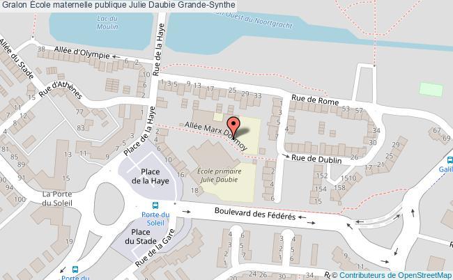 plan École Maternelle Publique Julie Daubie Grande-synthe Grande-Synthe