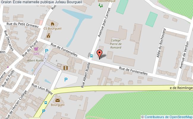 plan École Maternelle Publique Juteau Bourgueil Bourgueil