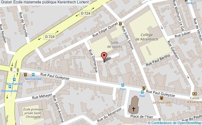 plan École Maternelle Publique Kerentrech Lorient Lorient
