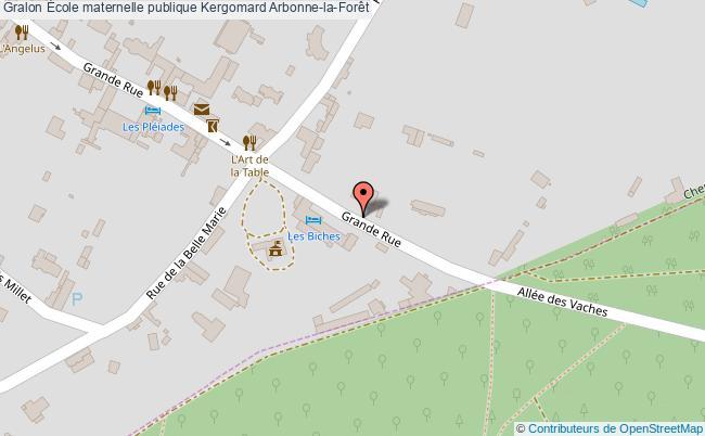 plan École Maternelle Publique Kergomard Arbonne-la-forêt Arbonne-la-Forêt