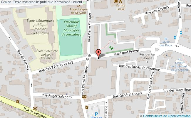 plan École Maternelle Publique Kersabiec Lorient Lorient
