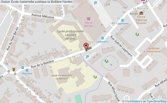 plan École Maternelle Publique La Bottière Nantes Nantes