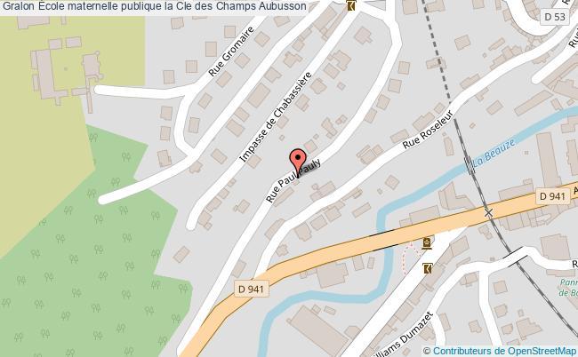 plan École Maternelle Publique La Cle Des Champs Aubusson Aubusson