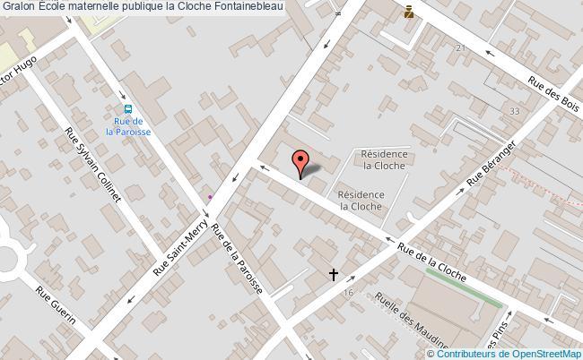 plan École Maternelle Publique La Cloche Fontainebleau Fontainebleau