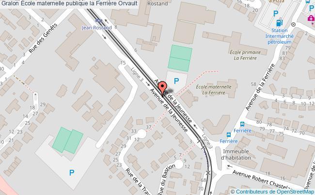 plan École Maternelle Publique La Ferrière Orvault Orvault