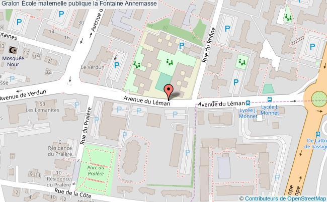 plan École Maternelle Publique La Fontaine Annemasse Annemasse